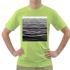 Texture Background Water Green T Shirt