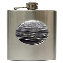 Texture Background Water Hip Flask (6 Oz)