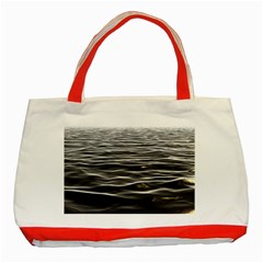 Texture Background Water Classic Tote Bag (red)