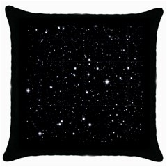 Black Background Texture Stars Throw Pillow Case (black)