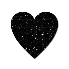 Black Background Texture Stars Heart Magnet