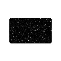 Black Background Texture Stars Magnet (name Card)