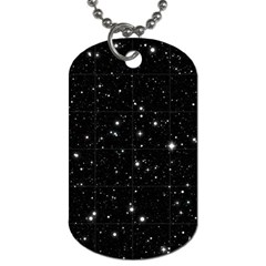 Black Background Texture Stars Dog Tag (one Side) by Celenk