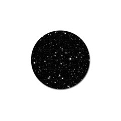 Black Background Texture Stars Golf Ball Marker by Celenk