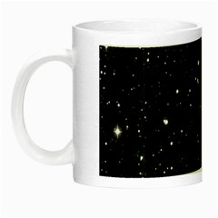 Black Background Texture Stars Night Luminous Mugs by Celenk