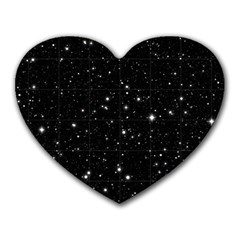 Black Background Texture Stars Heart Mousepads