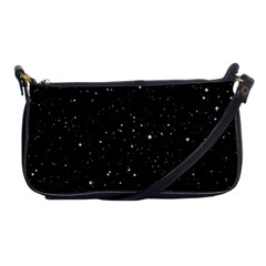 Black Background Texture Stars Shoulder Clutch Bags
