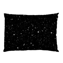 Black Background Texture Stars Pillow Case (two Sides)
