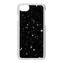 Black Background Texture Stars Apple Iphone 7 Seamless Case (white) by Celenk