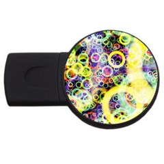 Background Texture Rings Usb Flash Drive Round (2 Gb)