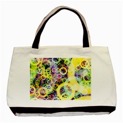 Background Texture Rings Basic Tote Bag (two Sides) by Celenk