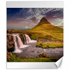 Nature Mountains Cliff Waterfall Canvas 8  X 10  by Celenk