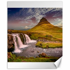 Nature Mountains Cliff Waterfall Canvas 16  X 20   by Celenk