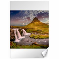 Nature Mountains Cliff Waterfall Canvas 20  X 30   by Celenk