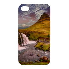 Nature Mountains Cliff Waterfall Apple Iphone 4/4s Premium Hardshell Case by Celenk