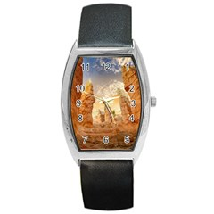 Canyon Desert Landscape Scenic Barrel Style Metal Watch