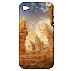 Canyon Desert Landscape Scenic Apple Iphone 4/4s Hardshell Case (pc+silicone) by Celenk