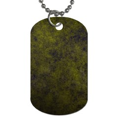 Green Background Texture Grunge Dog Tag (two Sides)