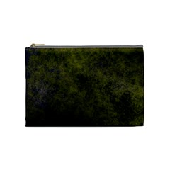 Green Background Texture Grunge Cosmetic Bag (medium)
