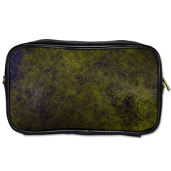 Green Background Texture Grunge Toiletries Bags 2 Side by Celenk