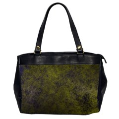 Green Background Texture Grunge Office Handbags (2 Sides)  by Celenk