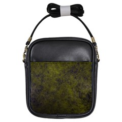 Green Background Texture Grunge Girls Sling Bags by Celenk