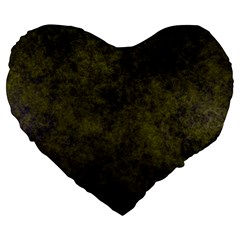 Green Background Texture Grunge Large 19  Premium Flano Heart Shape Cushions by Celenk