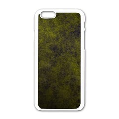 Green Background Texture Grunge Apple Iphone 6/6s White Enamel Case by Celenk