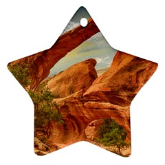 Canyon Desert Rock Scenic Nature Ornament (star)