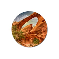 Canyon Desert Rock Scenic Nature Magnet 3  (round)