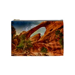 Canyon Desert Rock Scenic Nature Cosmetic Bag (medium)  by Celenk