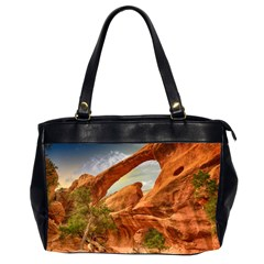 Canyon Desert Rock Scenic Nature Office Handbags (2 Sides)  by Celenk
