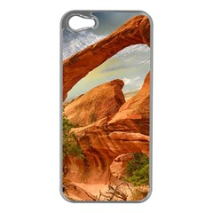 Canyon Desert Rock Scenic Nature Apple Iphone 5 Case (silver) by Celenk
