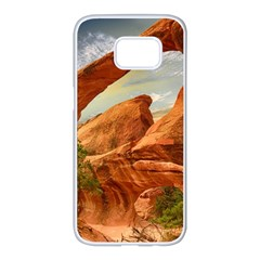 Canyon Desert Rock Scenic Nature Samsung Galaxy S7 Edge White Seamless Case