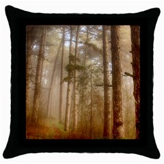 Forest Trees Wood Branc Throw Pillow Case (black) by Celenk