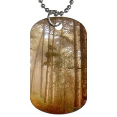 Forest Trees Wood Branc Dog Tag (two Sides)