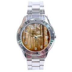 Forest Trees Wood Branc Stainless Steel Analogue Watch