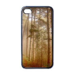 Forest Trees Wood Branc Apple Iphone 4 Case (black)