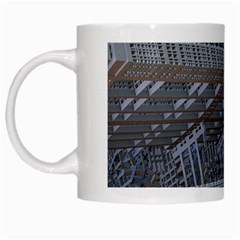Ducting Construction Industrial White Mugs by Celenk
