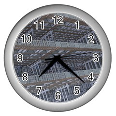 Ducting Construction Industrial Wall Clocks (silver)