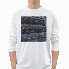 Ducting Construction Industrial White Long Sleeve T Shirts by Celenk