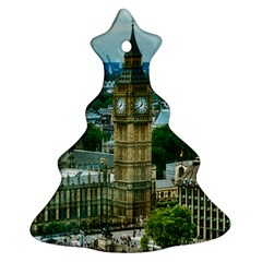 London England City Landmark Christmas Tree Ornament (two Sides) by Celenk