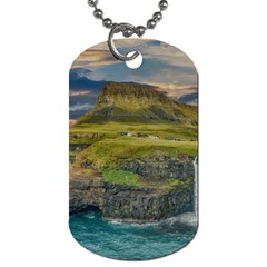 Coastline Waterfall Landscape Dog Tag (one Side)