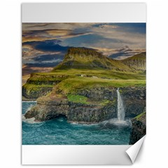 Coastline Waterfall Landscape Canvas 12  X 16   by Celenk