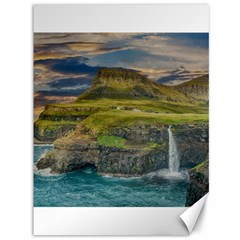 Coastline Waterfall Landscape Canvas 36  X 48   by Celenk