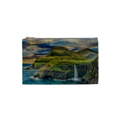 Coastline Waterfall Landscape Cosmetic Bag (small)