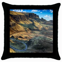 Nature Landscape Mountains Outdoor Throw Pillow Case (black)