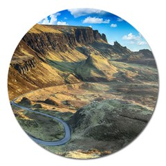 Nature Landscape Mountains Outdoor Magnet 5  (round)