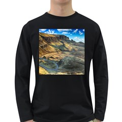 Nature Landscape Mountains Outdoor Long Sleeve Dark T Shirts