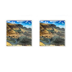 Nature Landscape Mountains Outdoor Cufflinks (square) by Celenk